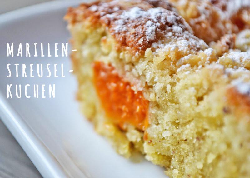 Rezept Marillenkuchen mit Streusel zuckerstaub.at