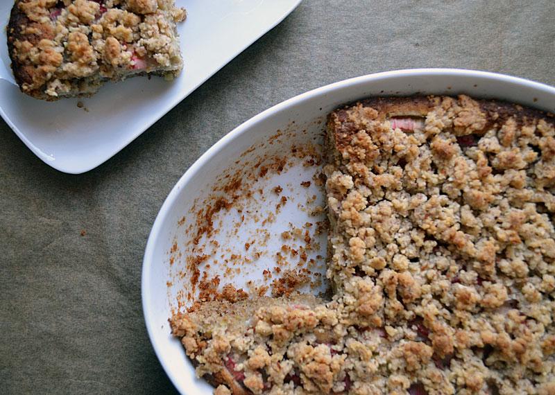 rhabarber-kuchen mit Streusel