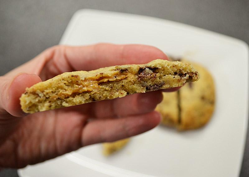 gefüllte cookies erdnussbutter
