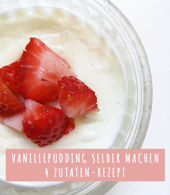 rezept für selbstgemachten Vanillepudding