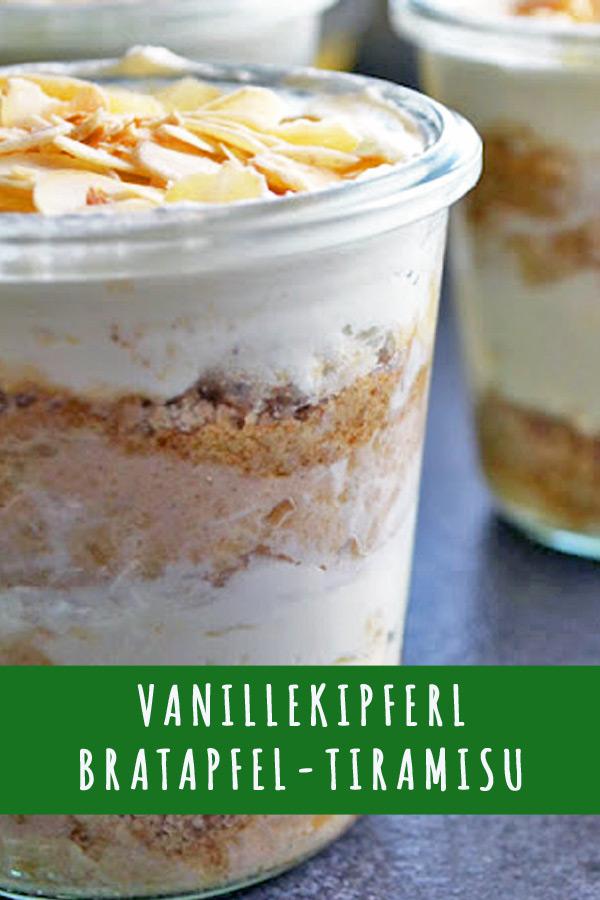 Rezept Vanillekipferl-Bratapfel-Tiramisu