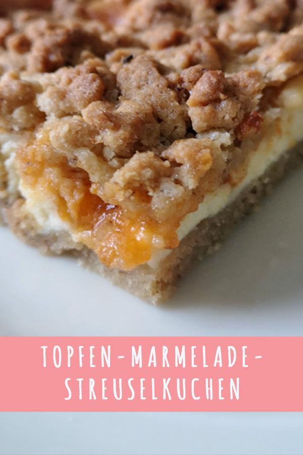 Topfen-Marmelade-Streuselkuchen