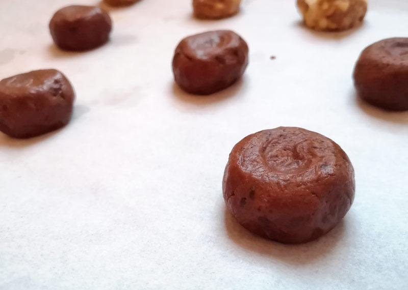 Triple-Chocolate-Cookies Teig